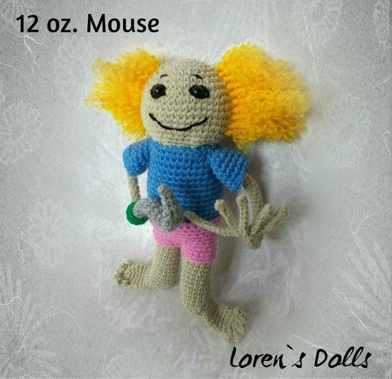 Rooster from 12 oz. Mouse Crochet Toy by LorensDolls on Etsy  #12ozMouse