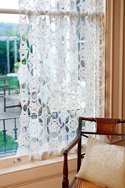 Crochet curtain ~ pattern available