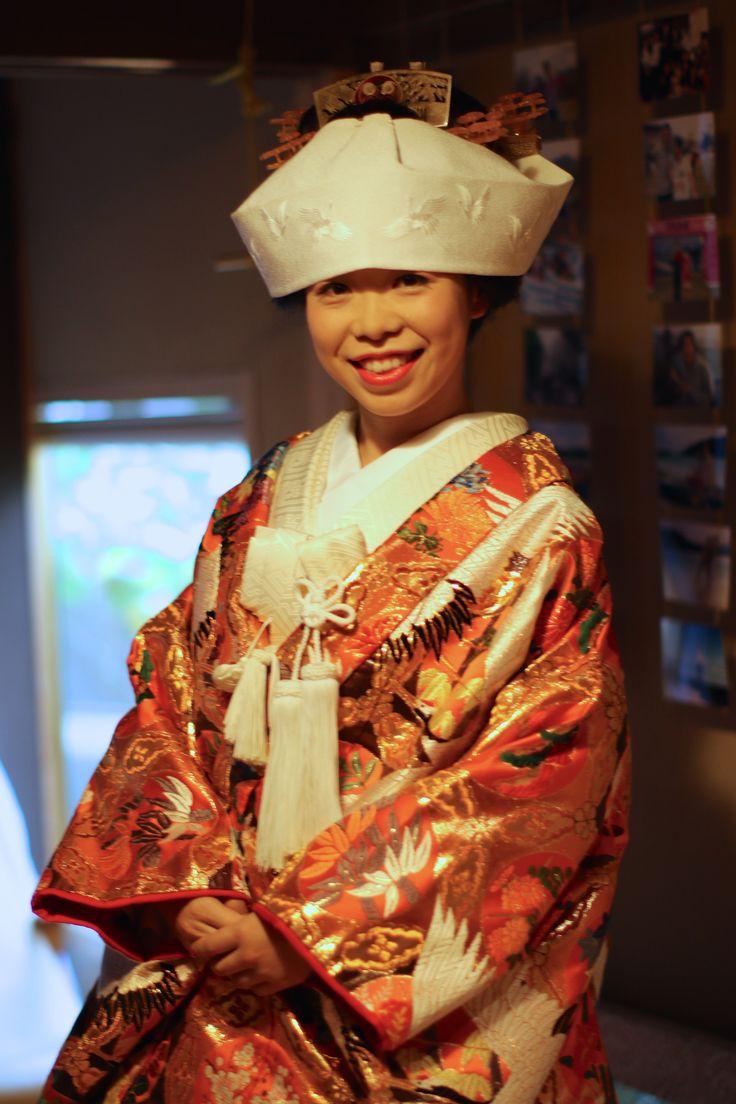 I wore the color Uchikake . #kimono#japan#wedding