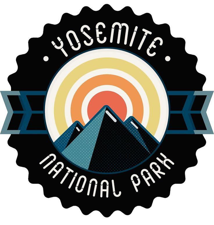 Yosemite • National Park | #badge #logo #Yosemite #national #park #us #sunrise #mountain #travel @oozefina