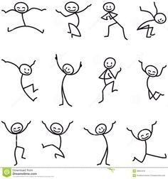 Stick Man Stick Figure Happy Jumping Celebrating - Download From Over 41 Million High Quality Stock Photos, Images, Vectors. Sign up for FREE today. Image: 38951018