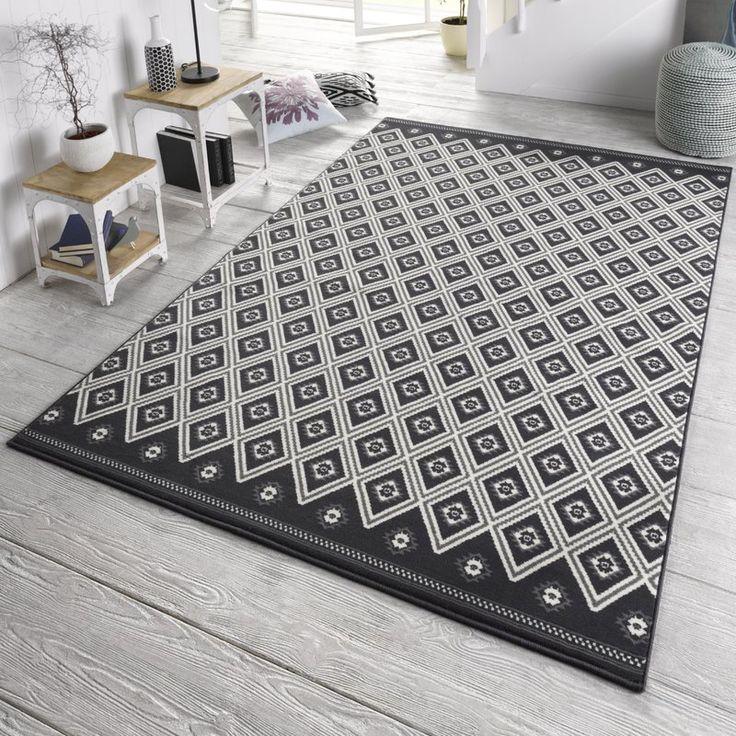 Die besten 25+ Teppich schwarz Ideen auf Pinterest schwarzer - teppich wohnzimmer beige