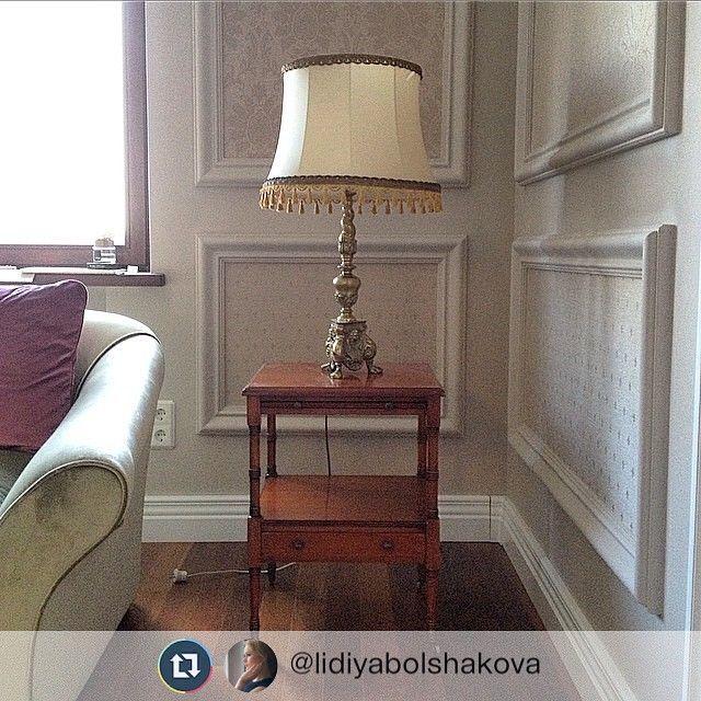 #gprepost @lidiyabolshakova via @gpplusplus Спасибо за фото! Наша мебель в интерьере московской квартиры: тумба и лампа #буфеттабурет #bufettaburet #лето #август #2015