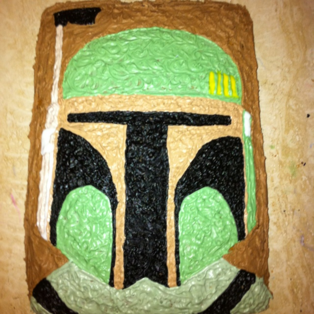Boba Fett: Made this cake for my husbands birthday.