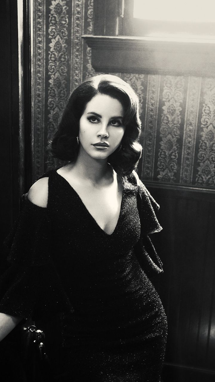 720x1280 Black And White Lana Del Rey Wallpaper Lana Del Rey Honeymoon Lana Del Rey Black And White Picture Wall