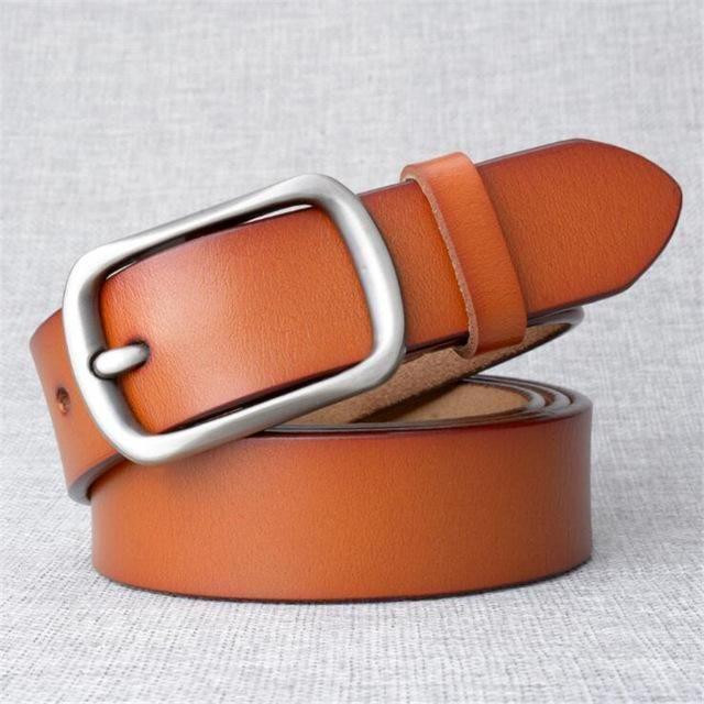 womens tan leather jeans belt