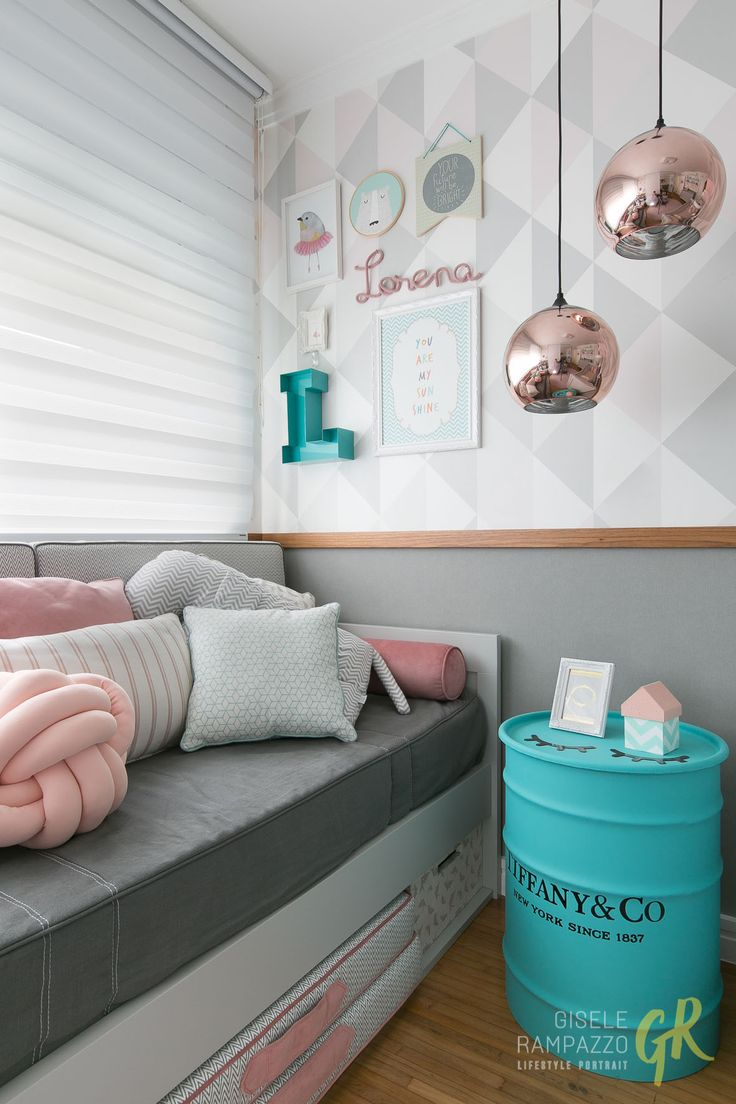 171 Best Decora O Images On Pinterest Future House My House  ~ Quarto Feminino Com Cama Box E Quarto Bebe Rosa E Cinza