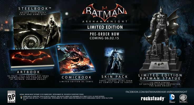 UPDATED: BATMAN: ARKHAM KNIGHT Gets June 2015 Release Date, Two Collector's Editions | Newsarama.com