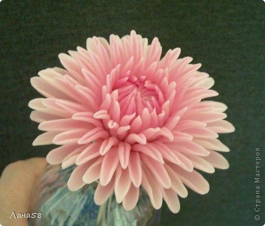 Мастер-класс Флористика искусственная Лепка Мини МК по лепке лепестков хризантемы Фарфор холодный фото 1