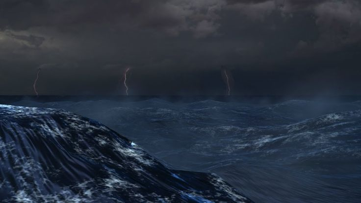 ⚡️ Ocean Thunderstorm Sounds For Sleeping/Relaxing ~ Thunder Rain Storm Waves Sea Lightning Ambience - YouTube