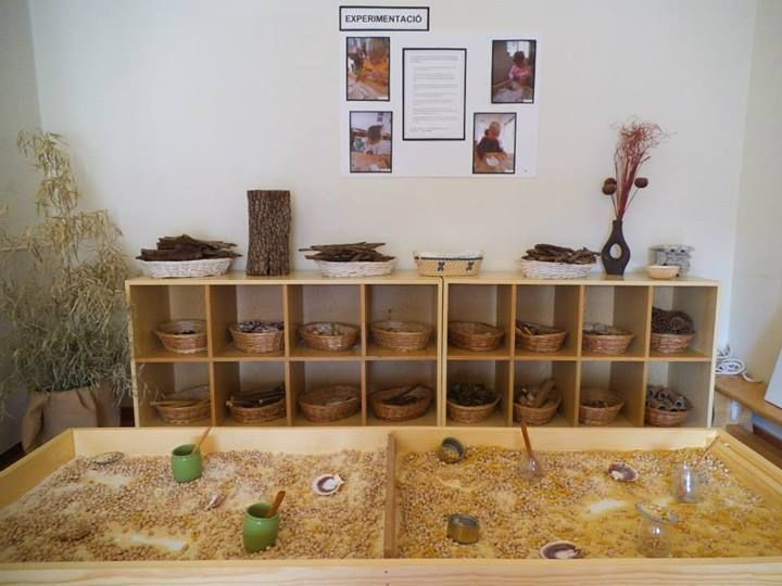 "Sensory trays & shelves - from Llar d'Infants Les Preses ("",)"