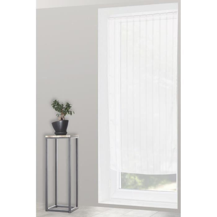 voilage vitrage ray x cm blanc vous voulez habiller vos petites fenetres with la redoute rideaux. Black Bedroom Furniture Sets. Home Design Ideas