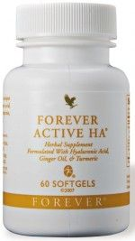 Forever Active HA Benefits – Hyaluronic, Ginger Oil, Turmeric Supplement