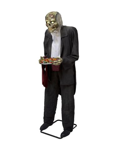 6 butler animated decoration exclusively at spirit halloween greet your guests and set the - Spirit Halloween Props