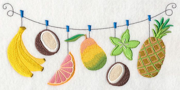 Tropical Fruit Clothesline