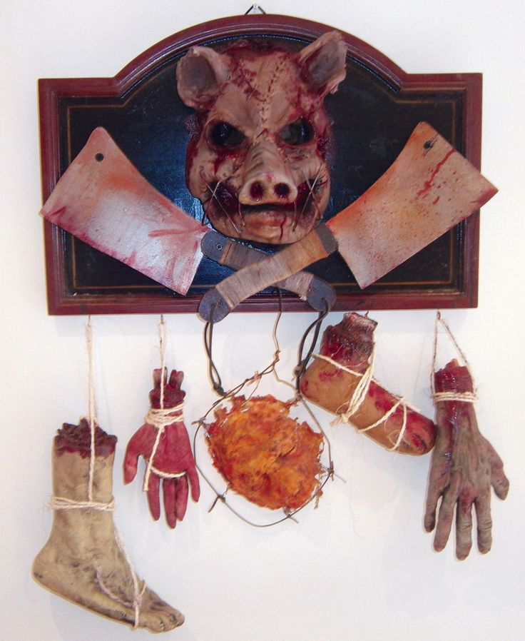 butchers sign twisted uk - Bloody Halloween Decorations
