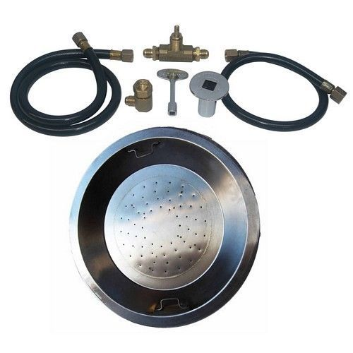 """22"""" Stainless Steel Drop-In Fire Pit Burner Kit for Natural Gas Dreffco NG #Dreffco"""