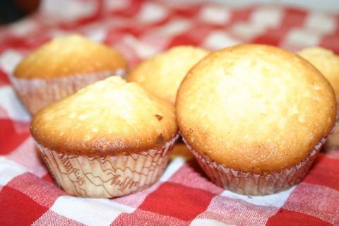 Citronmuffins med lemoncurd