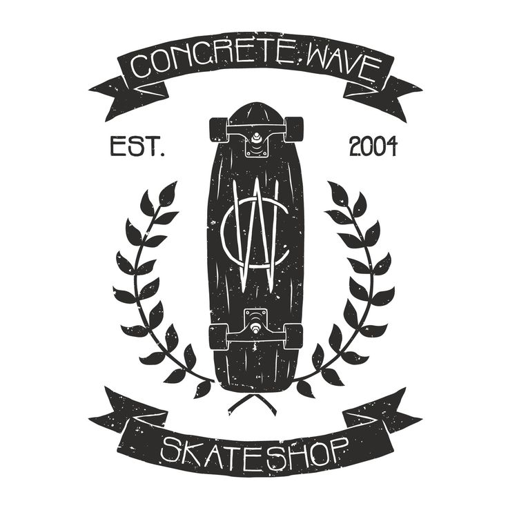 Concrete Wave Skate shop logo.