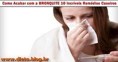 10 REMÉDIOS NATURAIS PARA BRONQUITEA bronquite é uma inflamação, inchaço ou infecção dos brônquios entre o nariz e os pulmões.Normalmente é causada por um vírus, bactérias ou partículas que irritam os brônquios.>> Sintomas:Os sintomas associados com bronquite incluem:- Tosse com muco- Dificuldade respiratória- Dor no peito- Congestão nasal- Fadiga- Dores ...