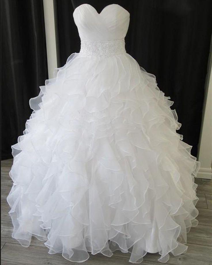 2015 Wedding Dresses,Ball Gown Wedding Dresses,Vintage Wedding Dress,Organza Ruffles Wedding Dresses,Plus Size Wedding Dresses,Wedding Gowns,Bridal Dresses
