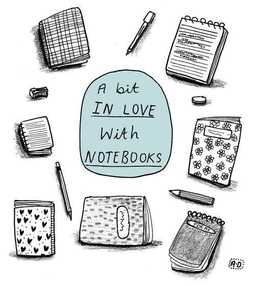 This is me...I have way too many writing notebooks. And yet, I always seem to buy more...