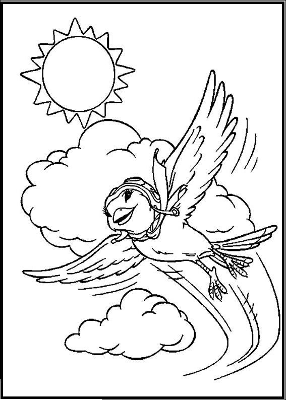 Little Bird Friend Of Stuart Coloring Picture For Kids