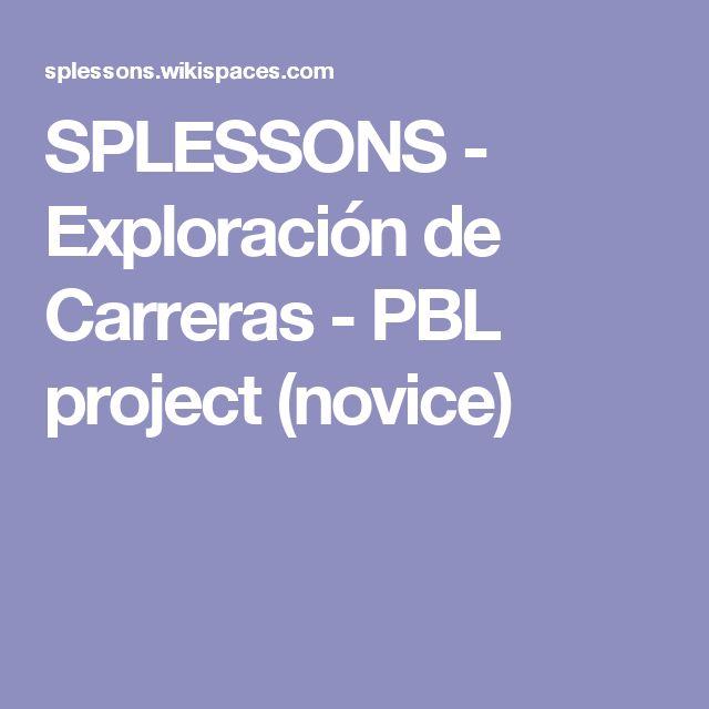 SPLESSONS - Exploración de Carreras - PBL project (novice)