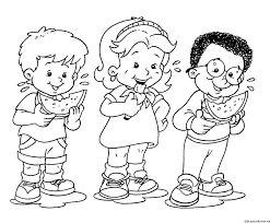 Resultado de imagen para Una niña y el número 5 para colorear