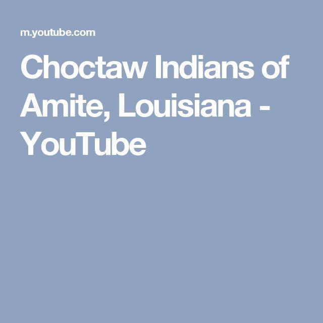 Choctaw Indians  of Amite, Louisiana - YouTube