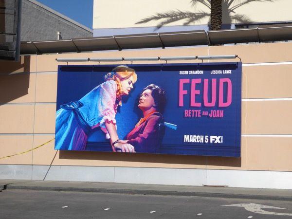 Feud: Bette and Joan series launch billboard Fox Studios