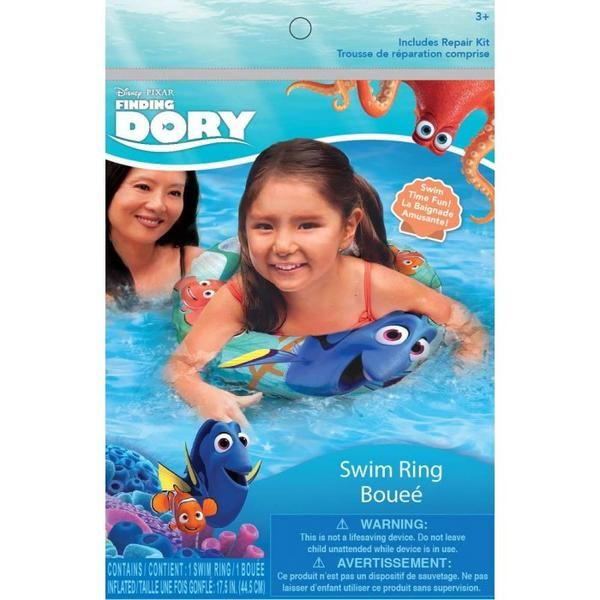 Make a splash this summer with this Finding Dory inflatable swim ring. It features bright colors and friendly characters from the family fun film Finding Dory f