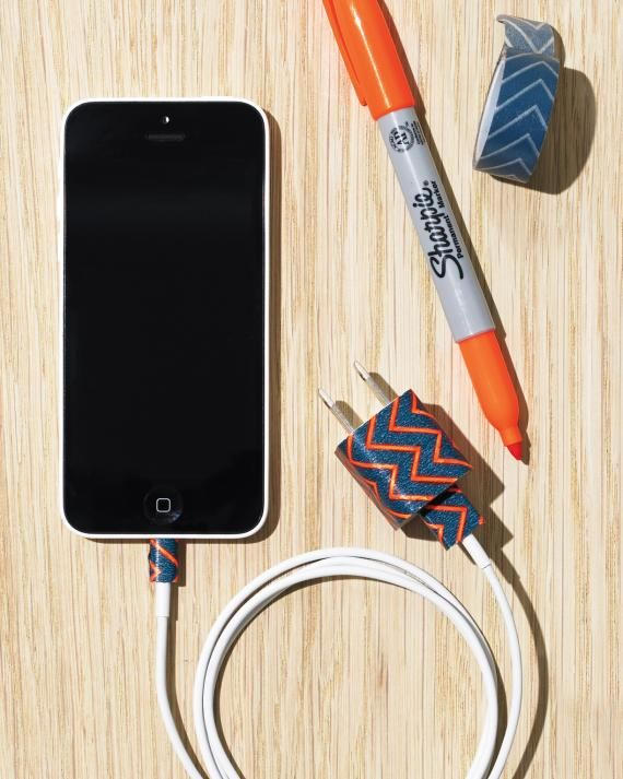 Washi Tape-Embellished Phone Chargers Put an end to any family squabbles over whose charger is whose.
