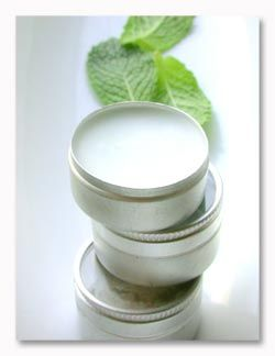 Homemade lip balm: melt coconut oil and pour into small tins. Add peppermint extract, lavender oil or cocoa for flavor