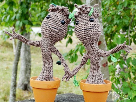Für Später, wenn ich es besser kann :) (OMG BABY GROOOOOT <3)  Gratis Häkelanleitung in Deutsch - Baby Groot aus  Guardians of the Galaxy by Smartapple Creations
