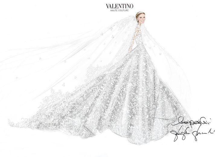 Le croquis de la robe de mariée sur-mesure Valentino de Nicky Hilton pour son mariage avec James Rothschild à Londres http://www.vogue.fr/mariage/inspirations/diaporama/la-robe-de-marie-valentino-de-nicky-hilton-mariage-avec-james-rothschild/21578#le-croquis-de-la-robe-de-marie-sur-mesure-valentino-de-nicky-hilton-pour-son-mariage-avec-james-rothschild-londres