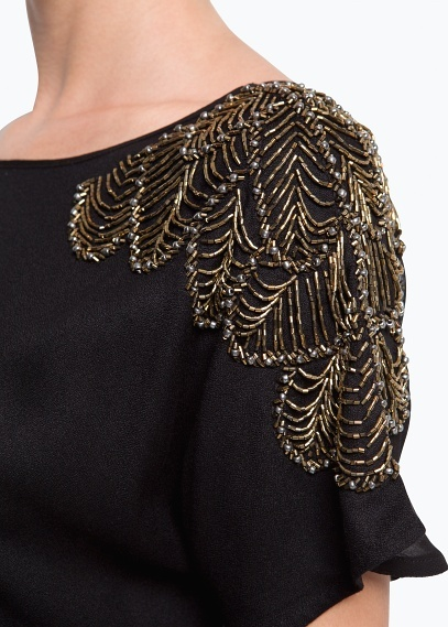 MANGO - Beaded shoulders top