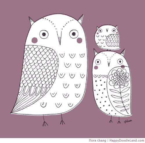 Happy Doodle Land: Doodle, Illustration, Baby, Drawing, Owls, Hoot, Calendar