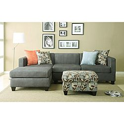 @Overstock - Set includes: Reversible L/R CHAISE Sectional, Pillows, and Ottoman  so cute!!!   Materials: Microfiber,Hard wood solids  Finish: Charcoal   http://www.overstock.com/Home-Garden/Anthony-Charcoal-Sectional-Sofa-Set/6325642/product.html?CID=214117 $1,079.99