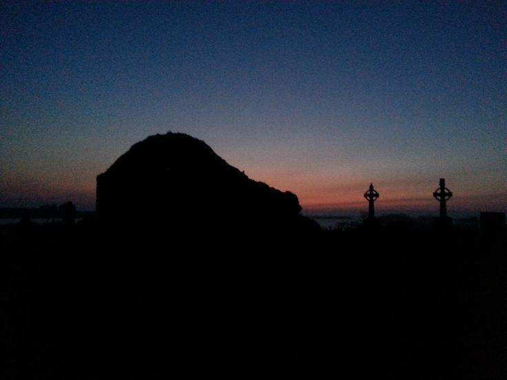 Sunrise in Addergoole Cemetery.
