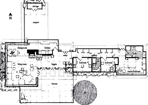 Floorplan usonian automatic traveling exhibit and the for Zimmerman house floor plan