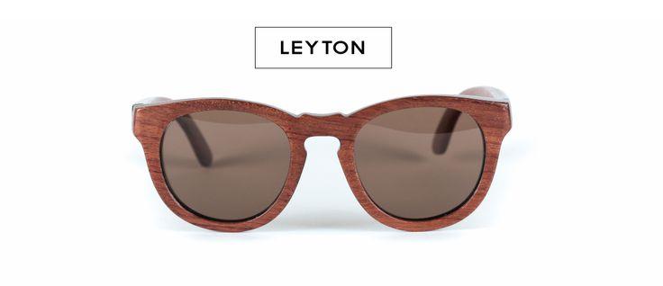 Leyton Sunglasses - Material : Tiger wood. Lenses : Polarized lenses with UV 400 protection - Category 3. Size: L 13.5cm x H 5cm REZIN   Handmade Wood Sunglasses   Lunettes de soleil en bois.