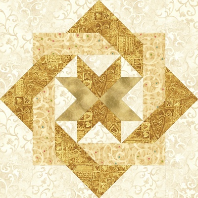 Caught A Star Quilt Block No Tutorial Lots Of HSTs Maybe Picnic