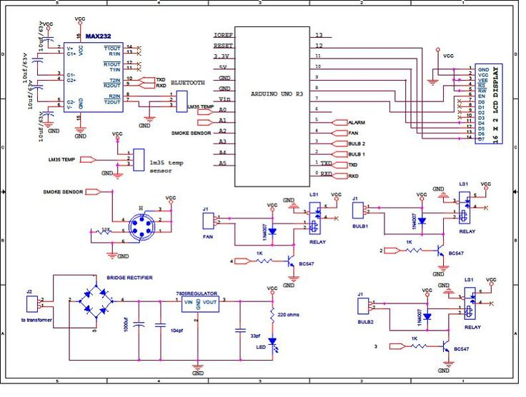 Arduino based smart home automation circuit diagram for Home automation plan