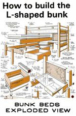 find this pin and more on beds see more about bunk bed plans - Free Loft Bed With Desk Plans