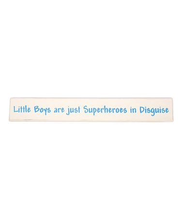 'Little Boys Are Just Superheroes in Disguise' Wall Art by Twelve Timbers