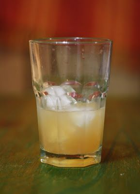 Zubrowka and ginger-cinnamon-infused simple syrup
