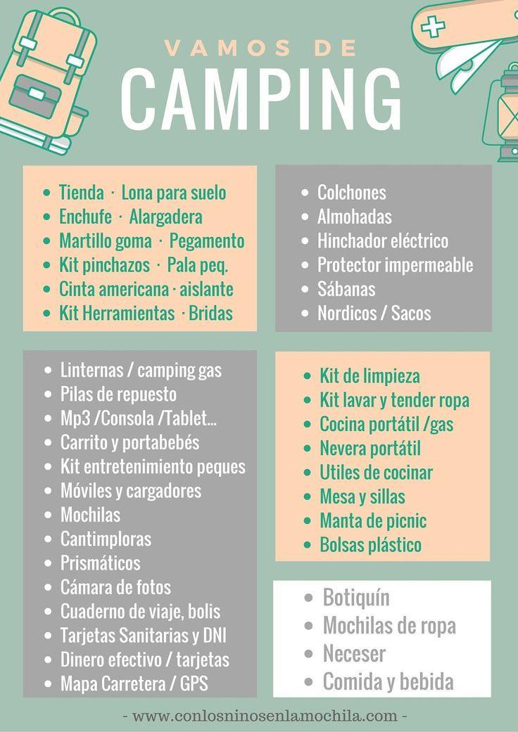 Qué Llevar De Camping Consejos Recomendaciones E Imprimible Gratis Van De Camping Trucos Para Acampar Consejos Para Acampar