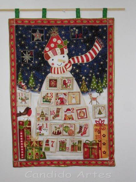 Painel De Natal Calendário Do Advento | Candido Artes | E0B06 - Elo7