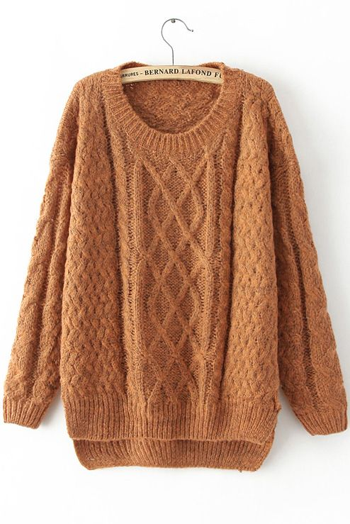 Shop Yellow Long Sleeve Cable Knit Loose Sweater online. Sheinside offers Yellow Long Sleeve Cable Knit Loose Sweater & more to fit your fashionable needs. Free Shipping Worldwide!